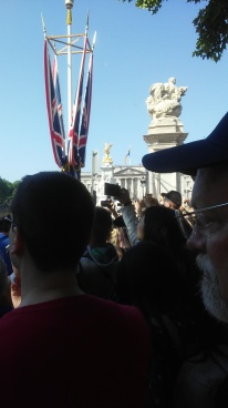 Mostly saw the backs of cameras while trying to see the royal family, but...