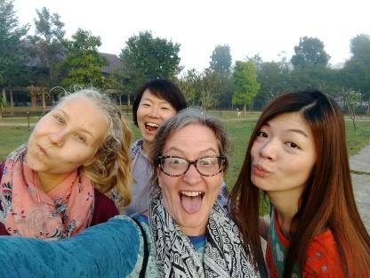 Anna, Aya, me and Sharon